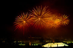 Switzerland - Geneva  fireworks Royalty Free Stock Images