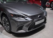 Free Switzerland; Geneva; March 8, 2018; Lexus LS 500h Front; The 88th International Motor Show In Geneva From 8th To 18th Of March, 2 Stock Image - 118352511