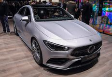 Free Switzerland; Geneva; March 9, 2019; Mercedes-Benz CLA 180 D Coupe; The 89th International Motor Show In Geneva From 7th To 17th Of Royalty Free Stock Images - 148255769