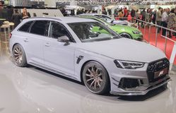Switzerland; Geneva; March 8, 2018; Audi ABT RS4-R; The 88th Int. Ernational Motor Show in Geneva from 8th to 18th of March, 2018 royalty free stock photo