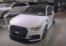 Switzerland; Geneva; March 8, 2018; Audi ABT RS3; The 88th Inter. National Motor Show in Geneva from 8th to 18th of March, 2018 stock images
