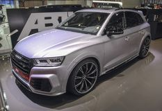 Switzerland; Geneva; March 8, 2018; Audi ABT SQ5; The 88th Inter. National Motor Show in Geneva from 8th to 18th of March, 2018 stock photos