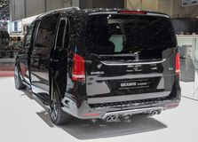 Switzerland; Geneva; March 9, 2019; BRABUS Business Plus - Mercedes-Benz V-class; The 89th International Motor Show in Geneva from royalty free stock image