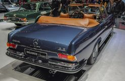 Switzerland; Geneva; March 9, 2019; Brabus Classic, Mercedes-Benz 280 SE 3.5 Cabriolet; The 89th International Motor Show in. Geneva from 7th to 17th of March stock photos