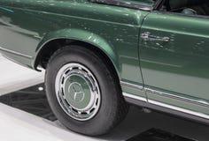 Switzerland; Geneva; March 9, 2019;  Brabus Classic, Mercedes-Benz 280 SL Pagoda rear right wheel; The 89th International Motor. Show in Geneva from 7th to 17th stock photos