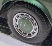 Switzerland; Geneva; March 9, 2019; Brabus Classic, Mercedes-Benz 280 SL Pagoda, wheel; The 89th International Motor Show in. Geneva from 7th to 17th of March royalty free stock photography