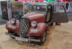 Switzerland; Geneva; March 9, 2019; Citroën Traction Avant; The 89th International Motor Show in Geneva from 7th to 17th of March. 2019 royalty free stock image