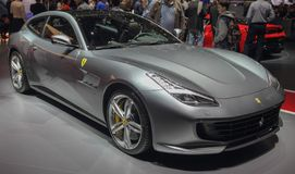 Switzerland; Geneva; March 10, 2018; Ferrari GTC4 Lusso; The 88th International Motor Show in Geneva from 8th to 18th of March, stock photo