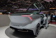 Switzerland; Geneva; March 8, 2018; The Icona Nucleus electric c. Ar concept, rear side; the 88th International Motor Show in Geneva from 8th to 18th of March stock photography