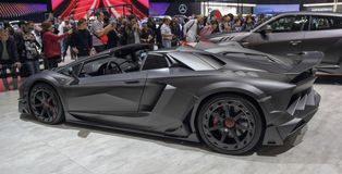 Switzerland; Geneva; March 9, 2019; Mansory Carbonado Evo; The 89th International Motor Show in Geneva from 7th to 17th of March,. 2019 royalty free stock photos