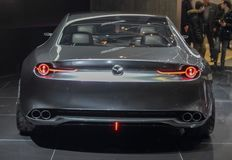 Switzerland; Geneva; March 10, 2018; Mazda Vision Coupe Concept rear side; The 88th International Motor Show in Geneva from 8th to stock photo