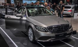 Switzerland; Geneva; March 8, 2018; The Mercedes Benz C 200 4 Ma. Tic; The 88th International Motor Show in Geneva from 8th to 18th of March, 2018 Stock Photo