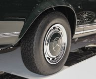 Switzerland; Geneva; March 8, 2018; Mercedes-Benz 280 SL Pagoda wheel; the 88th International Motor Show in Geneva from 8th to. 18th of March, 2018 royalty free stock images