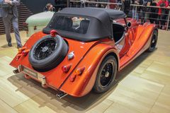 Switzerland; Geneva; March 9, 2019; Morgan Classic Roadster; The 89th International Motor Show in Geneva from 7th to 17th of March stock photos
