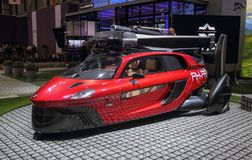 Switzerland; Geneva; March 8, 2018; PAL-V PH-PAV front, from the. Left; The 88th International Motor Show in Geneva from 8th to 18th of March, 2018 Stock Photo