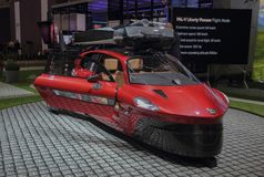 Switzerland; Geneva; March 8, 2018; PAL-V PH-PAV front, from the. Right; The 88th International Motor Show in Geneva from 8th to 18th of March, 2018 Royalty Free Stock Photography