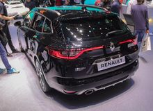 Switzerland; Geneva; March 10, 2018; The Renault Megane sport - rear side; The 88th International Motor Show in Geneva from 8th to stock image