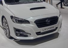 Switzerland; Geneva; March 8, 2018; The Subaru Levorg, front sid. E; The 88th International Motor Show in Geneva from 8th to 18th of March, 2018 Royalty Free Stock Photography
