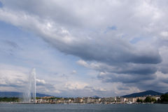 Switzerland, Geneva, view of Lake Geneva Royalty Free Stock Photo