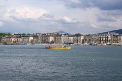 Switzerland, Geneva, view of Lake Geneva Royalty Free Stock Photography