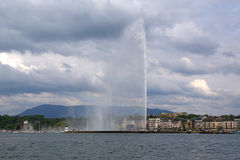Switzerland, Geneva, view of Lake Geneva Stock Photography