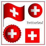 Switzerland graphic set Royalty Free Stock Photo