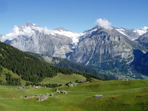 Switzerland, Grindelwald and the Wetterhorn Royalty Free Stock Images