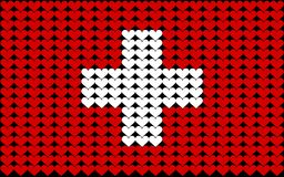 Switzerland heart flag Stock Photo