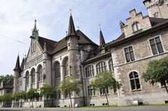 Switzerland: The swiss national museum in Zürich city. Switzerland: The historic building of the swiss national museum in Zürich city royalty free stock image