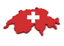 Switzerland Icon Map Shape Stock Images
