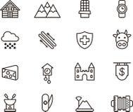 Switzerland Icons Royalty Free Stock Images