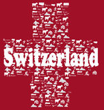 Switzerland icons flag Stock Photo