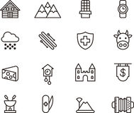 Switzerland icons Royalty Free Stock Images