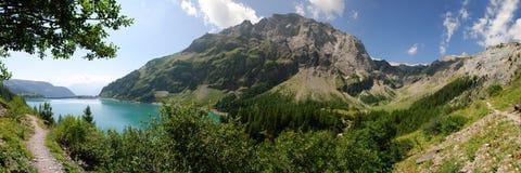 Switzerland, Lac de Tseuzier overview Stock Photography