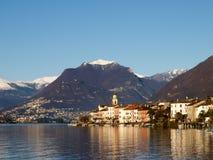 Switzerland - Lake of Lugano. view on Brusino. Stock Photo