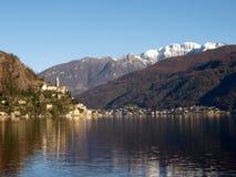 Switzerland - Lake of Lugano. view on Morcote. Stock Photos
