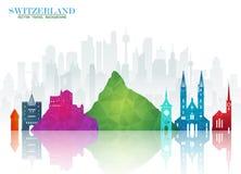 Free Switzerland Landmark Global Travel And Journey Paper Background. Stock Photography - 117183432