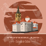 Switzerland landmarks. Retro styled image. Stock Image