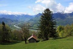 Switzerland Lichtenstein landscape. Stock Image
