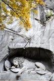 Switzerland lion monument Stock Image