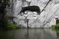 Switzerland. Lucerne. Sculpture the Lion Stock Photo