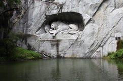 Switzerland. Lucerne. Sculpture the Lion Stock Photo