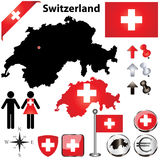 Switzerland map stock illustration
