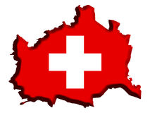 Switzerland Map Royalty Free Stock Photography