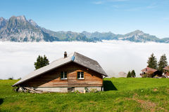Switzerland in the mountains Royalty Free Stock Photos