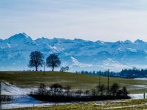 Switzerland mountains and hills landscape Royalty Free Stock Images