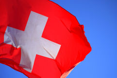 Switzerland National flag Stock Photos