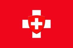 Switzerland National Flag Royalty Free Stock Photography
