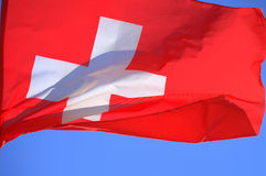 Switzerland National flag Stock Photography