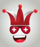 Switzerland National Supporter Character Stock Image